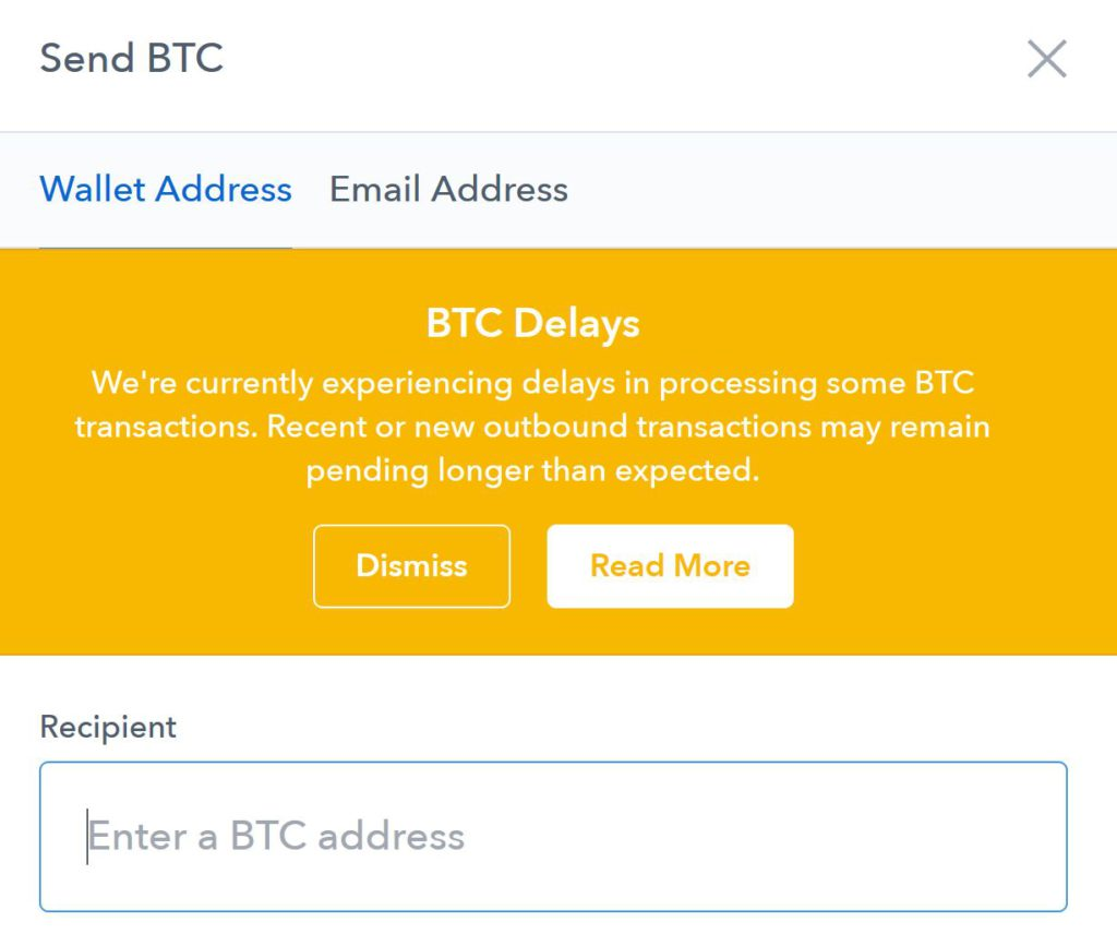 buying crypto currencies for the first time - coinbase slowdown alert